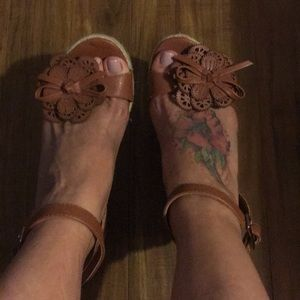 Shoes - Hippie Chic brown wedges.